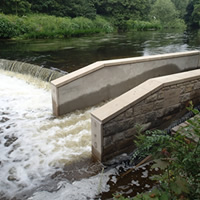 River Project carried out at Burley Weir
