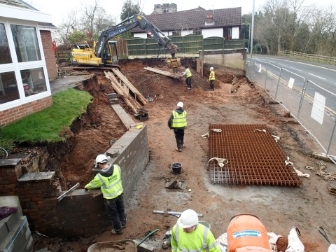 Lancashire builders on-site at Walton Le Dale